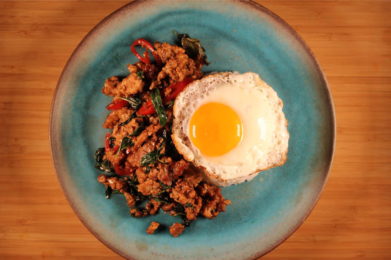 Thai Streetfood Kochkurs - Phad Kaprao Moo vom Thai Streetfood Kurs
