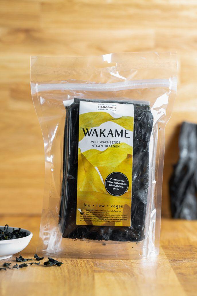 Algamar Bio Wakame 100g Vorderseite