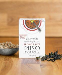 Clearspring Braune Bio Reis Instant Misosuppe Vorderseite