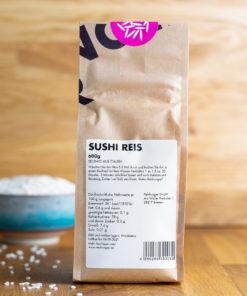 Reishunger Sushireis 600g Rückseite