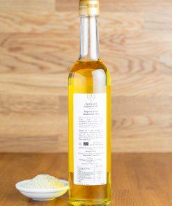 Wadaman Bio Weißes Sesamöl groß Rückseite