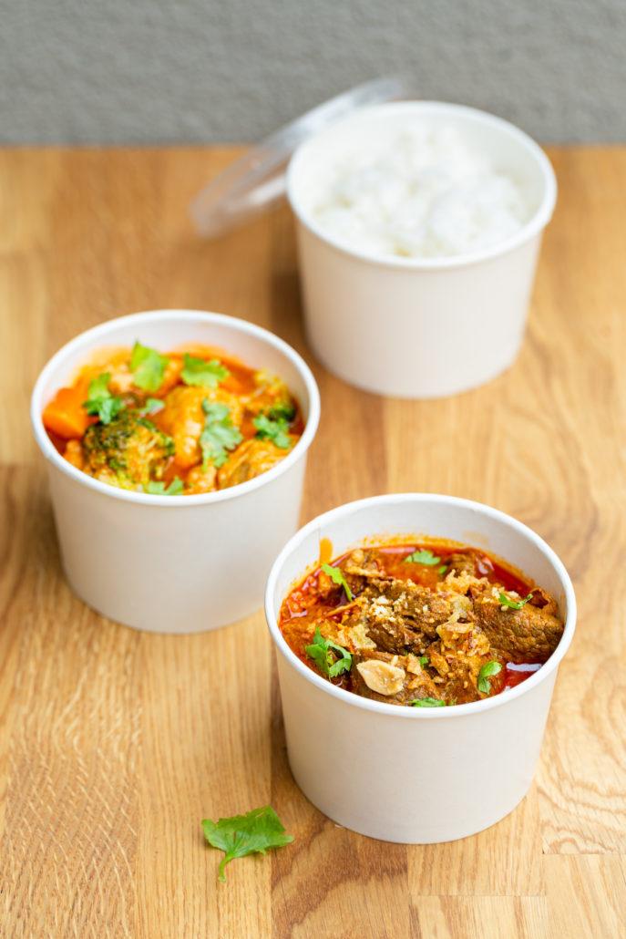 Take Away, verschiedene Currys
